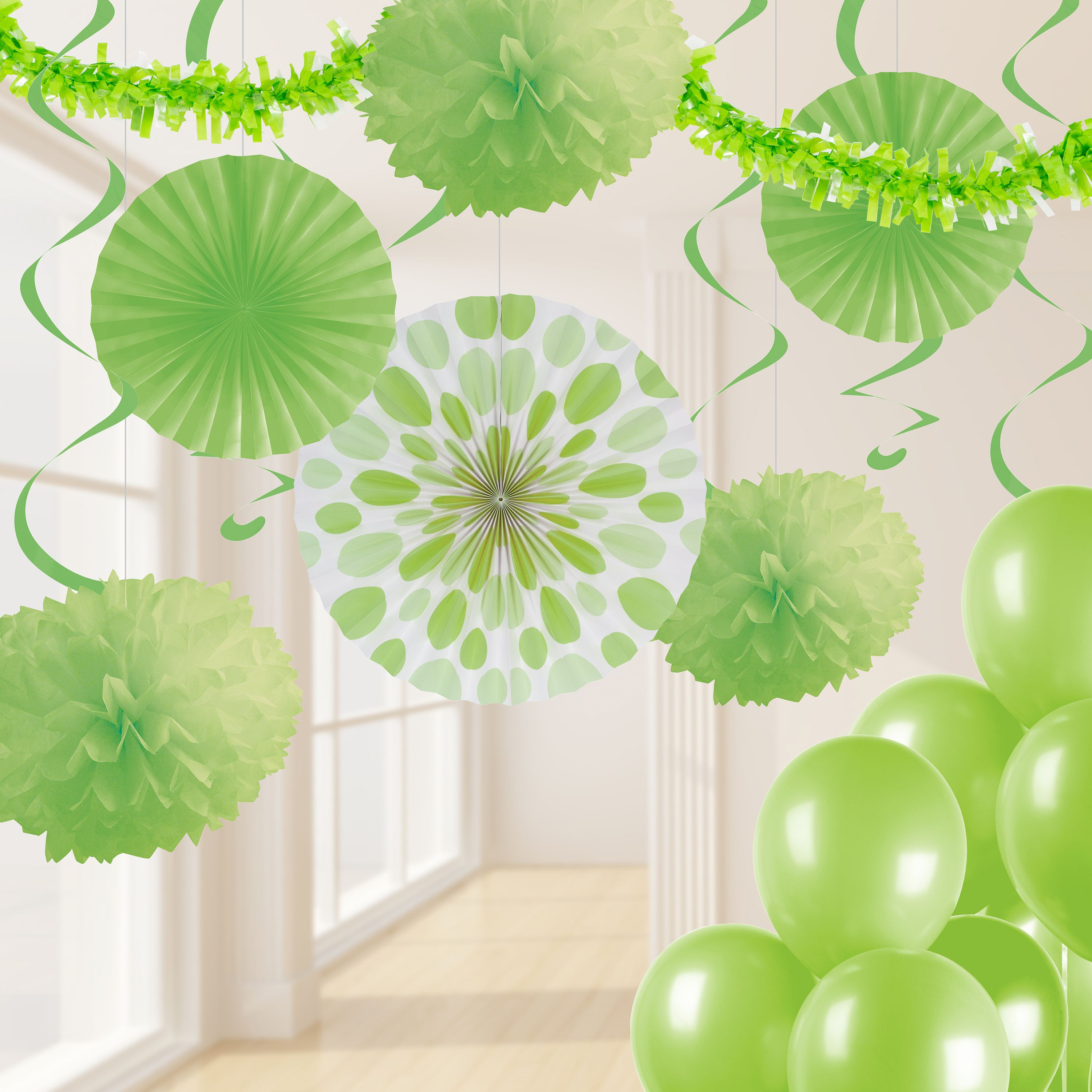 Fresh Lime Green Party Decorations Kit