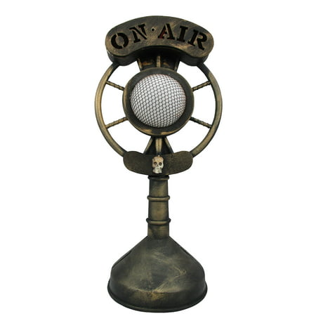 Spooky Classic Radio Microphone Light Up Broadcast Ghost Story Halloween Prop (Halloween Ghost Stories Short)