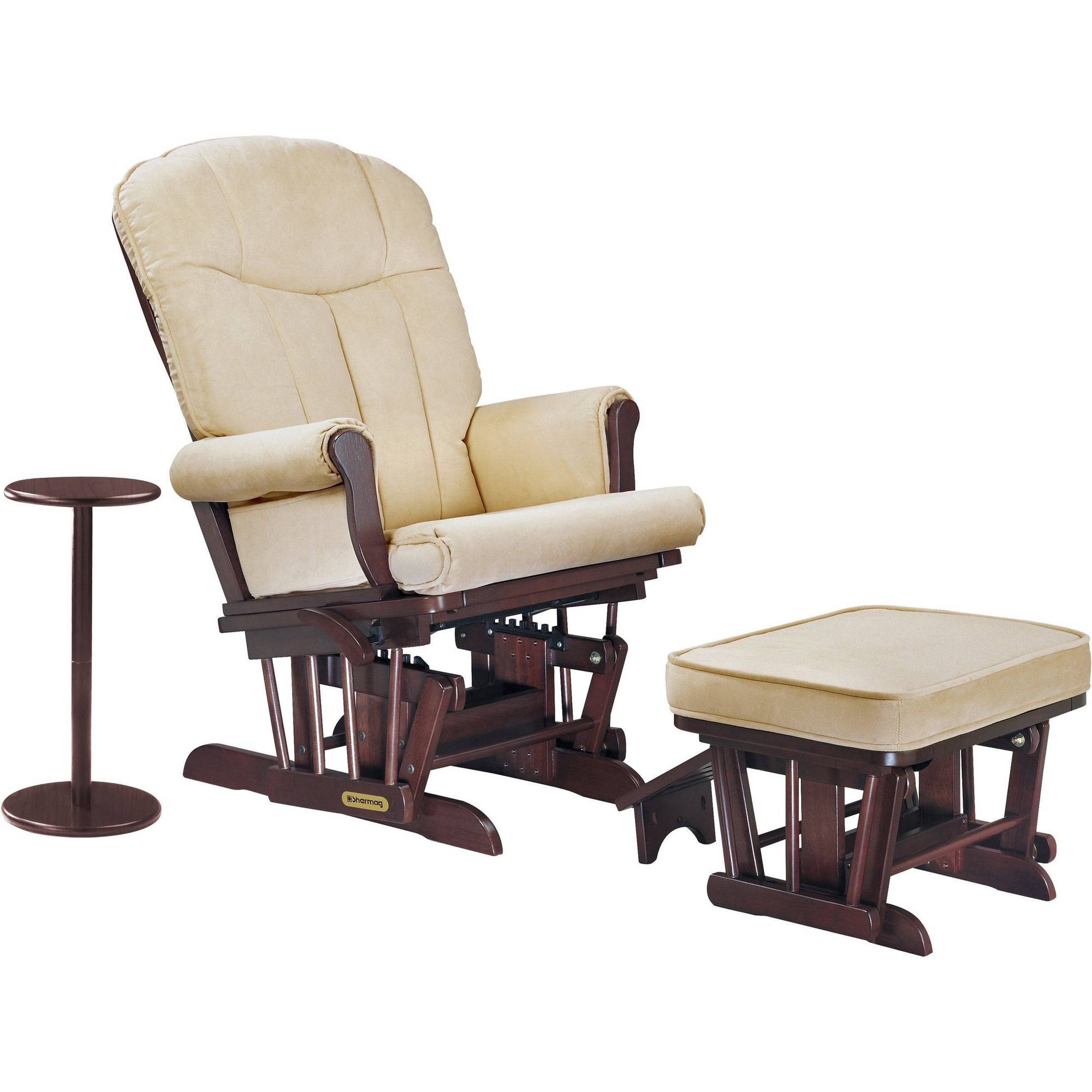 Push Back Recliner Glider Rocker with Swivel and Brake. Includes FREE Ottoman with Brown Micro-Fiber Fabric. - Walmart.com  sc 1 st  Walmart & Push Back Recliner Glider Rocker with Swivel and Brake. Includes ... islam-shia.org