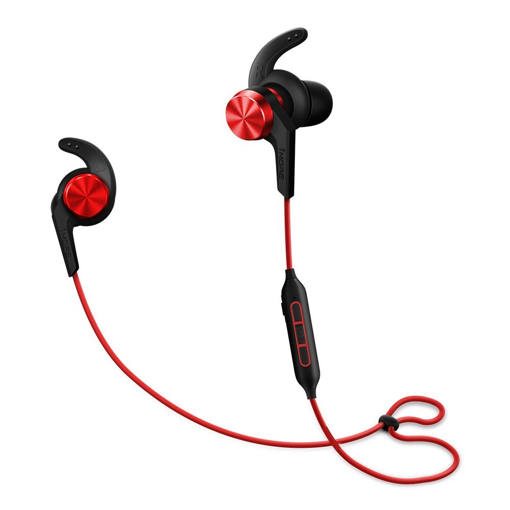 Image of 1MORE iBFree Bluetooth In-Ear Wireless Sport Headphones (Earphones/Earbuds/Headset) with Apple iOS and Android Compatible Microphone and Remote (Red)