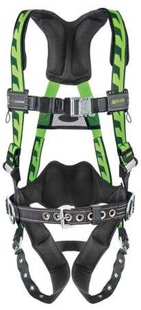 Miller By Honeywell Full Body Harness, Black Green AC-TB-BDP UGN by Miller by Honeywell