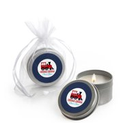 Railroad Party Crossing - Candle Tin Steam Train Birthday Party or Baby Shower Favors - Set of 12