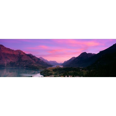 Prince Of Wales Hotel In Waterton Lakes National Park Alberta Canada Canvas Art   Panoramic Images  6 X 18