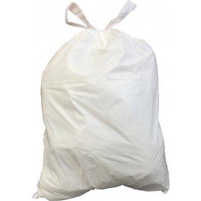 Plasticplace 4 6 Gallon Drawstring Trash Bags White Case Of 200