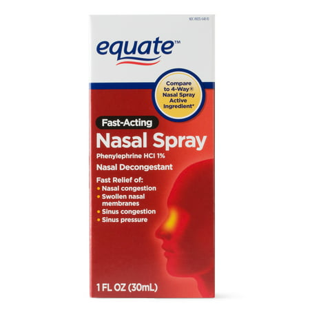 Equate Fast Acting Nasal Spray Solution 1 Oz Walmart