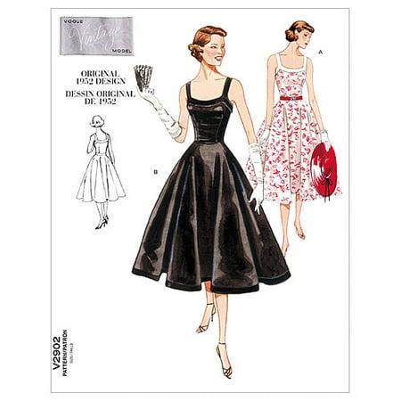 a6b26155d Vogue Pattern Misses' and Misses' Petite Dress, A (6, 8, 10) - Walmart.com