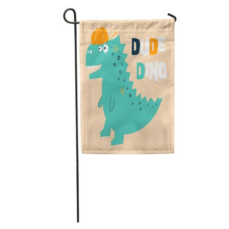KDAGR Dinosaur Dude Dino Graphics Baby Ball Baseball Birthday Boy Garden Flag Decorative Flag House Banner 12x18 inch](Baseball Banner)
