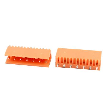 20Pcs AC300V 3 96mm Pitch 7P Straight Needle Plug-In PCB Terminal