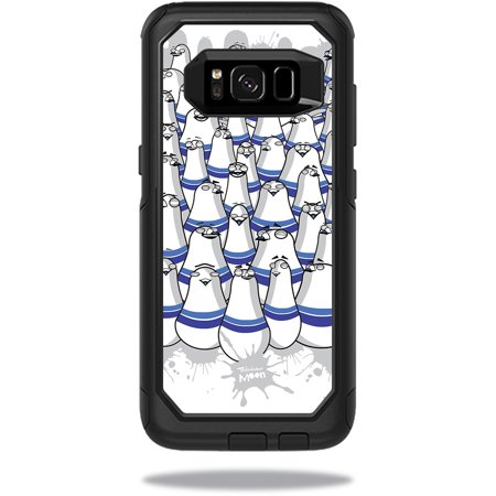 Skin For OtterBox Commuter Samsung Galaxy S8 Case - pigeon pins | Protective, Durable, and Unique Vinyl Decal wrap cover | Easy To Apply, Remove, and Change Styles (Remove Pigeons)