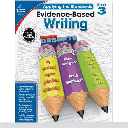Carson-Dellosa CDP104826 Evidence-Based Writing Workbook, Grade 3 - Natural - image 1 of 1