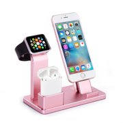 Tsumbay Apple Watch Stand Charging Dock Stand Station Charger Holder iPad Functional Stand forAirPods Apple Watch Series 2 / Series 1 / Phone 8 / Phone 7 / Plus / Phone 8