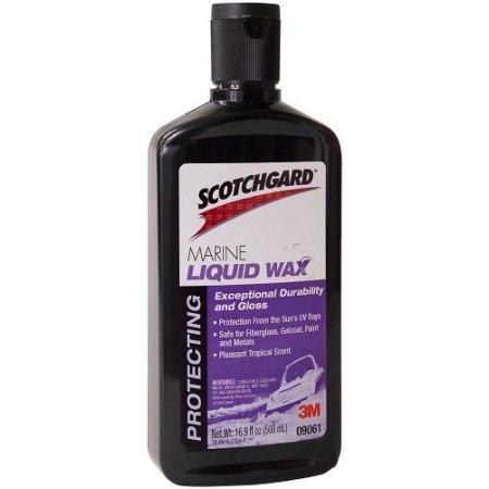 3M 09061 Scotchgard Marine Liquid Wax, 500-Milileter by 3M