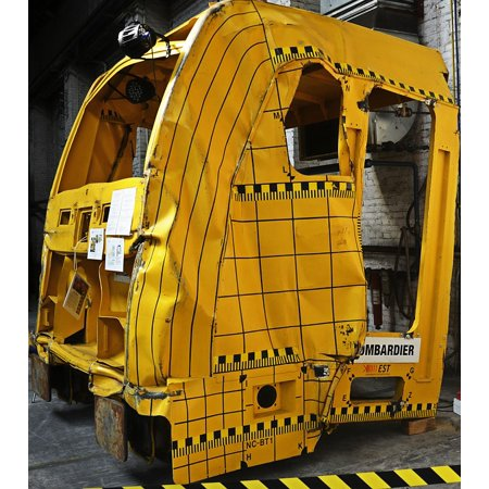 Canvas Print Rare Form Crash Test Locomotive Rarely Railway Stretched Canvas 10 x 14 (Rare Railroad)
