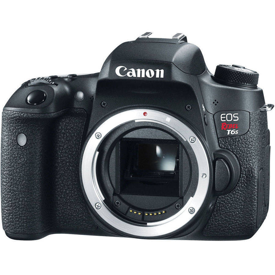 Canon Black EOS Rebel T6s Digital SLR Camera with 24.2 Megapixels (Body Only)