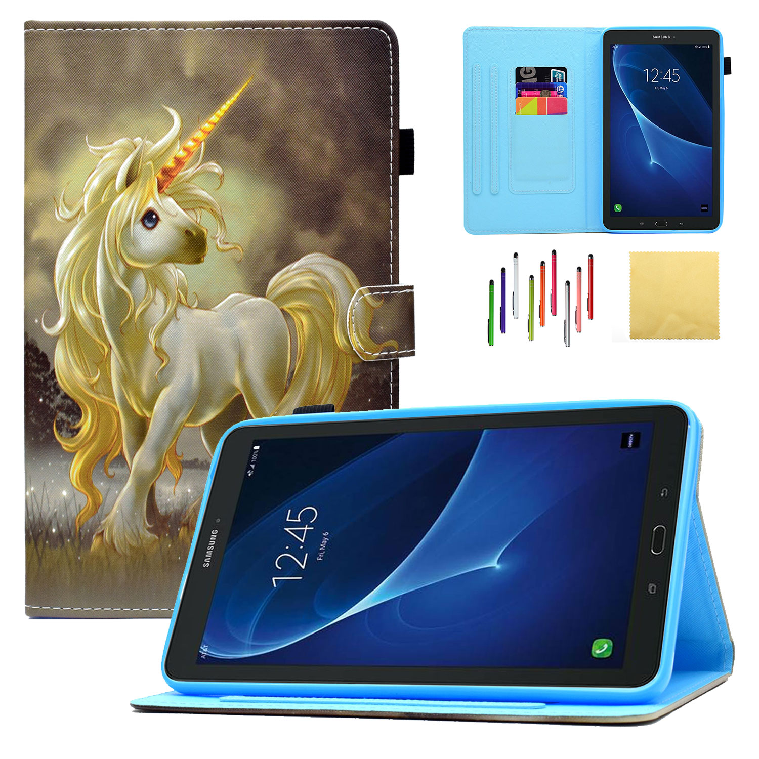 Galaxy Tab E 8.0 Tablet Case, SM-T377/T375 Case, Goodest Smart PU Leather Folio Folding Stand Cover with Pencil Holder Auto Wake/Sleep for Samsung Galaxy Tab E 8.0 (SM-T377/T375), Horse