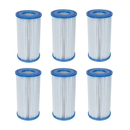 Bestway Swimming Pool Filter Pump Replacement Cartridge Type III 58012 (6 Pack)