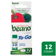 Beano To Go, Gas Prevention and Digestive Enzyme Supplement, 12 Count