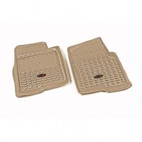 Floor Liner, Front, Tan, 11-14 Ford F150 Pickup