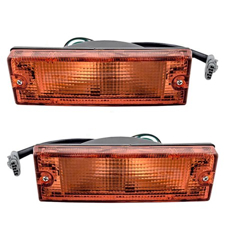Isuzu Work Truck (Driver and Passenger Park Signal Front Marker Lights Lamps Lenses Replacement for Honda Isuzu SUV Pickup Truck 8-97173-532-0 8-97173-531-0 )