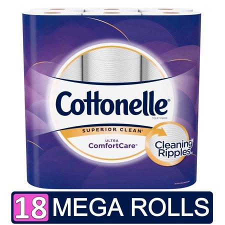 Cottonelle Ultra ComfortCare Toilet Paper, 18 Mega Rolls (= 72 Regular Rolls)