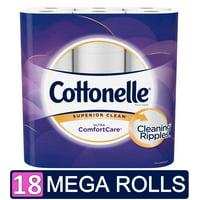 Cottonelle Ultra ComfortCare Toilet Paper, 18 Mega Rolls (=72 Regular Rolls)