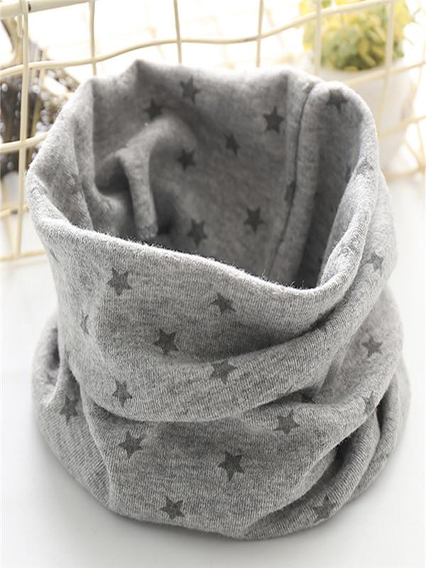 Autumn Winter Newborn Kid Boys Girls Baby Print Scarf Cotton O Ring Neck Scarves