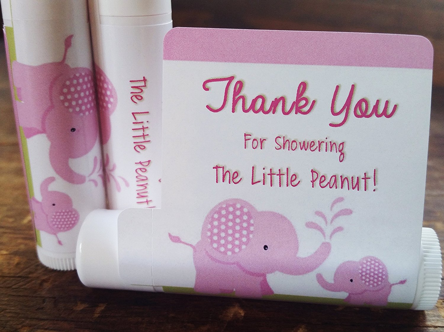 12 Elephant Baby Shower Lip Balms Girl Baby Shower Favors