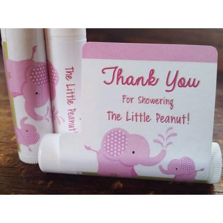 12 Elephant Baby Shower Lip Balms - Girl Baby Shower Favors - Elephant Shower Favors - Pink Elephant Favors (Girl Elephant Baby Shower)