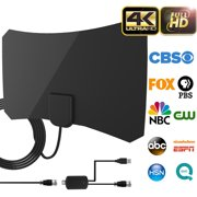 Cshidworld UPGRADED HD Digital TV Antenna Kit, 60-80 Miles Long Range High-Definition with HDTV Amplifier Signal Booster for Indoor - Amplified 10ft Coax Cable - Support All TV's - 1080p 4k Ready