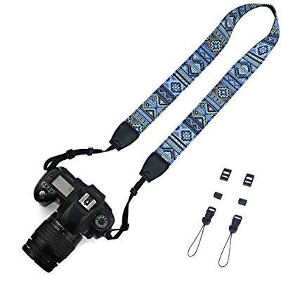 Elvam Camera Neck Shoulder Strap Belt for Nikon / Canon / Sony / Olympus / Pentax / Mini 8 / Mini 7s / Mini 25 / Mini 50s / Mini 90 / DSLR / SLR / DC / Fujifilm Instax Camera - Pattern