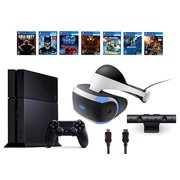 PlayStation VR Bundle 9 Items:VR Headset,Playstation Camera,PS4 Call of Duty Black Ops III,6 VR Game