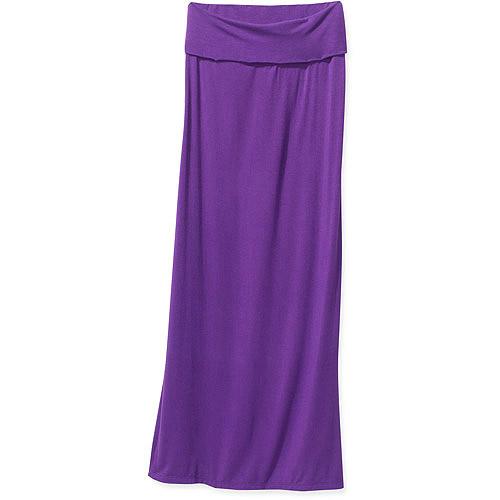 Women's Foldover Waist Maxi Skirt