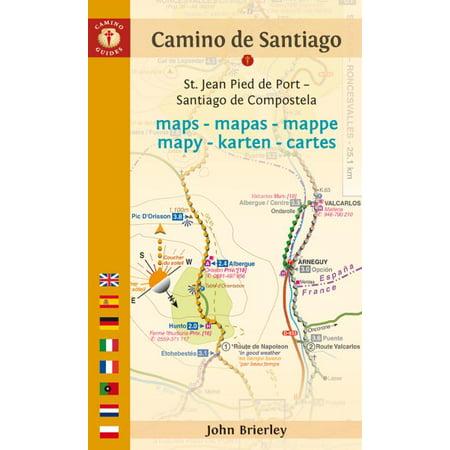 Camino de Santiago Maps : St. Jean Pied de Port - Santiago de ... on