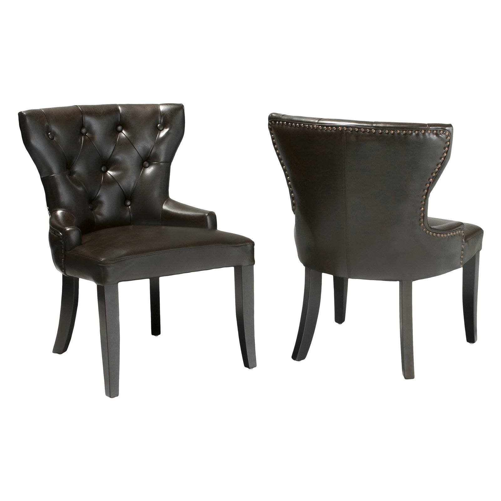 kingdom leather accent chairs set of 2