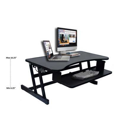 "Rocelco 37"" Height Adjustable Standing Desk Converter 