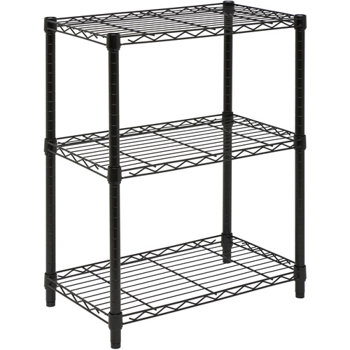 Honey-Can-Do 3-Tier Shelving Unit, Black