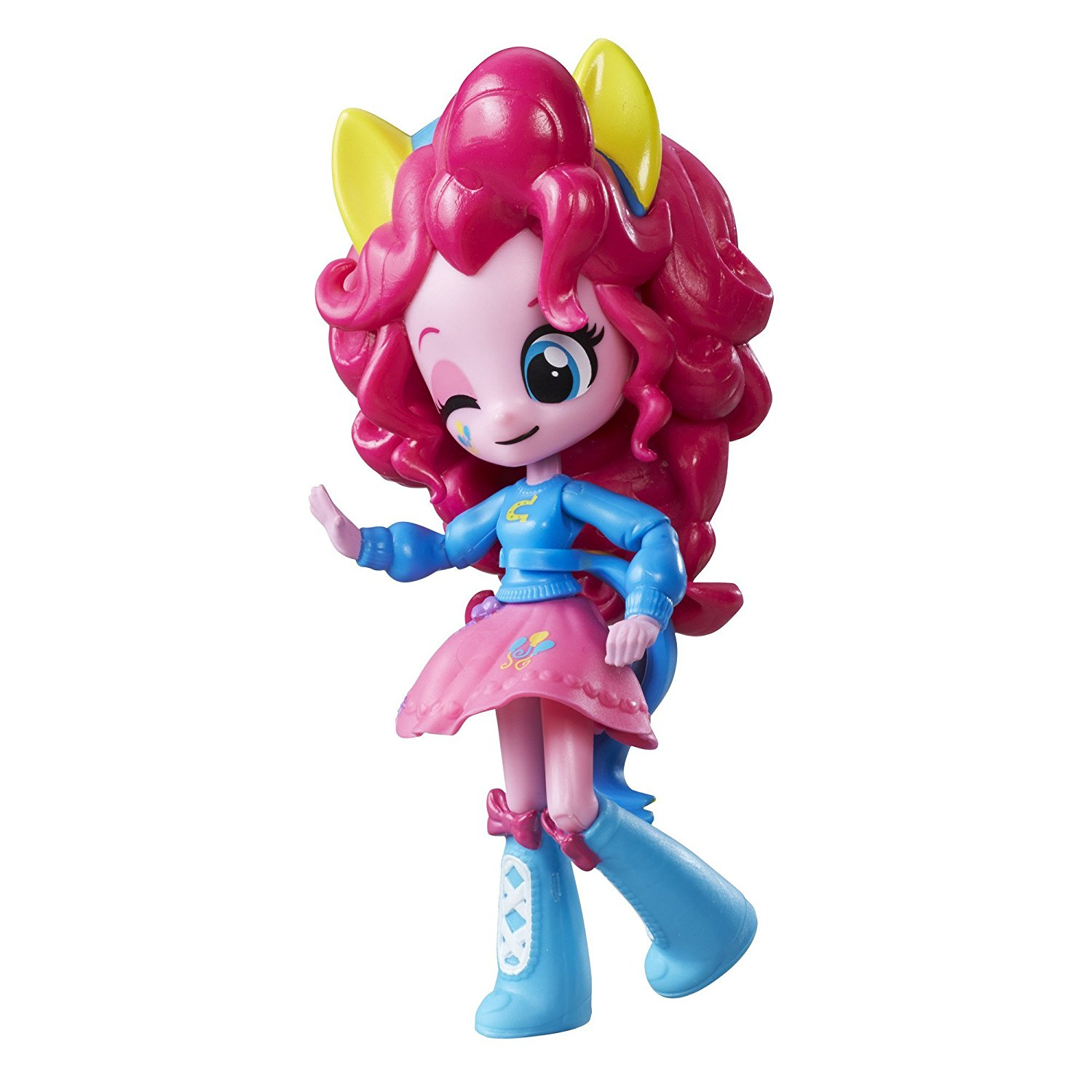 Equestria Girls Minis Pinkie Pie, Poseable doll with 9 points of articulation By My Little Pony Ship from US