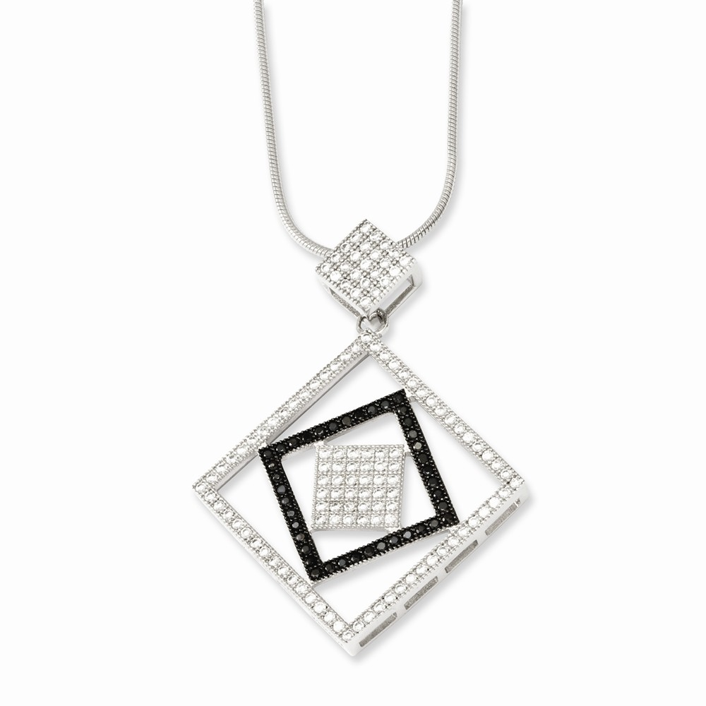 Sterling Silver & CZ Brilliant Embers 18in Necklace