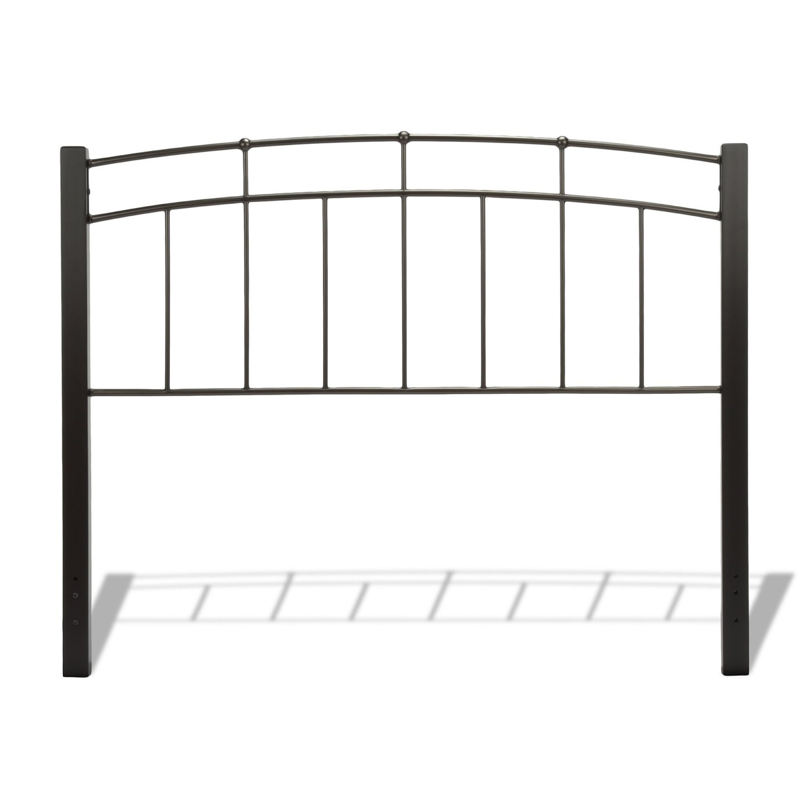 Scottsdale Metal Headboard with Dark Espresso Wooden Posts, Black Speckle Finish, Multiple sizes available