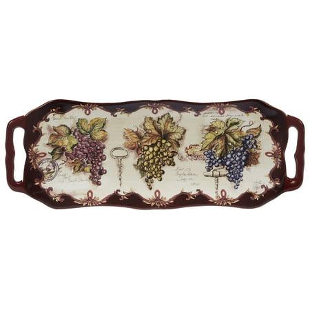"Vintners Journal Rectangular Platter w/Handles 16"" x 6.25"""