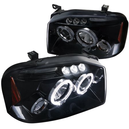 - Spec-D Tuning 2001-2004 Nissan Frontier Halo Led Projector Headlights 01 02 03 04 (Left + Right)