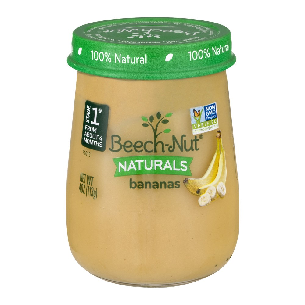 Beech Nut Naturals, Stage 1, Bananas, 4 Oz