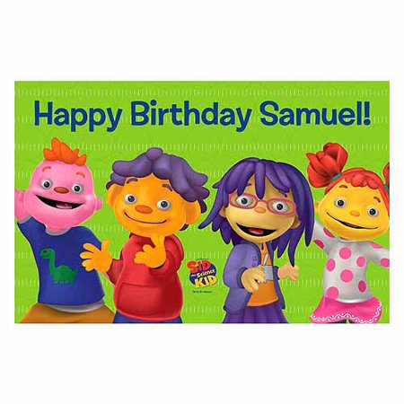 (Personalized Sid the Science & Friends Say Happy Birthday Placemat)