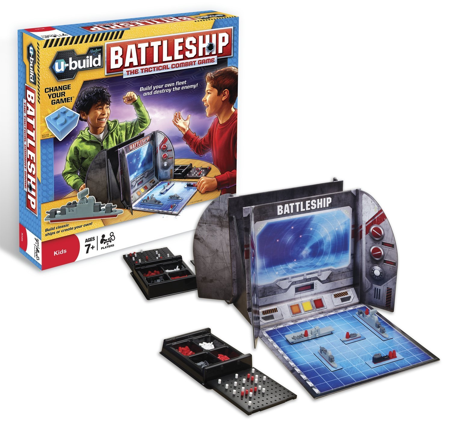 U-Build Battleship, Strategic water battle-themed game lets you build your own fleet and... by