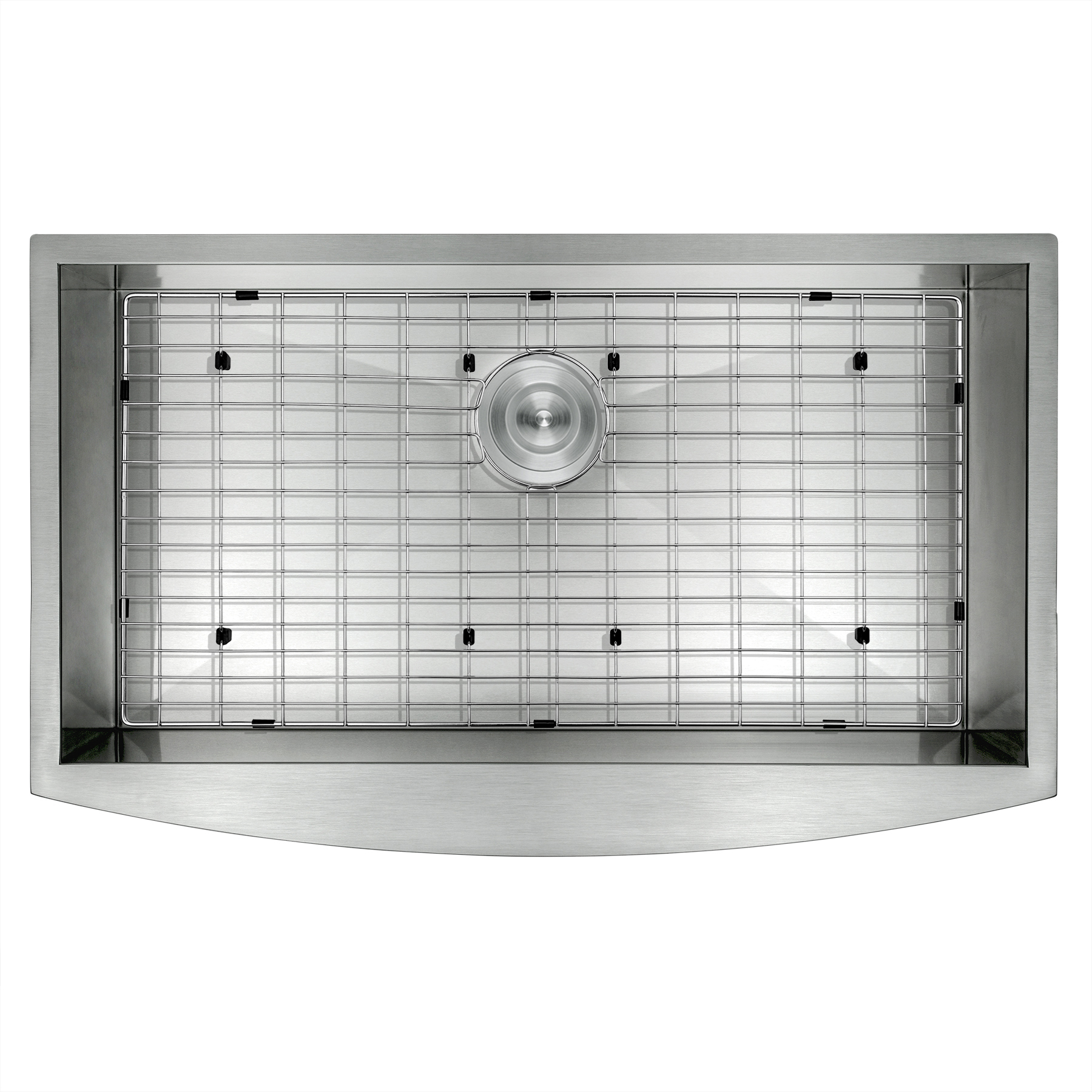 "Image of AKDY 33"" x 22"" x 9"" Handmade Apron Under Mount Basin Stainless Steel Kitchen Sink Dish Grid w/ Drain Kit"