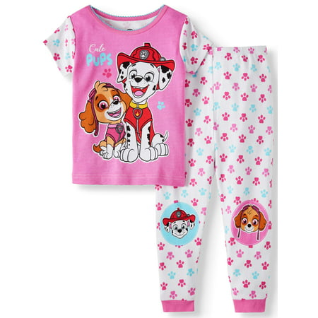 Paw Patrol Cotton tight fit pajamas, 2pc set (toddler girls)