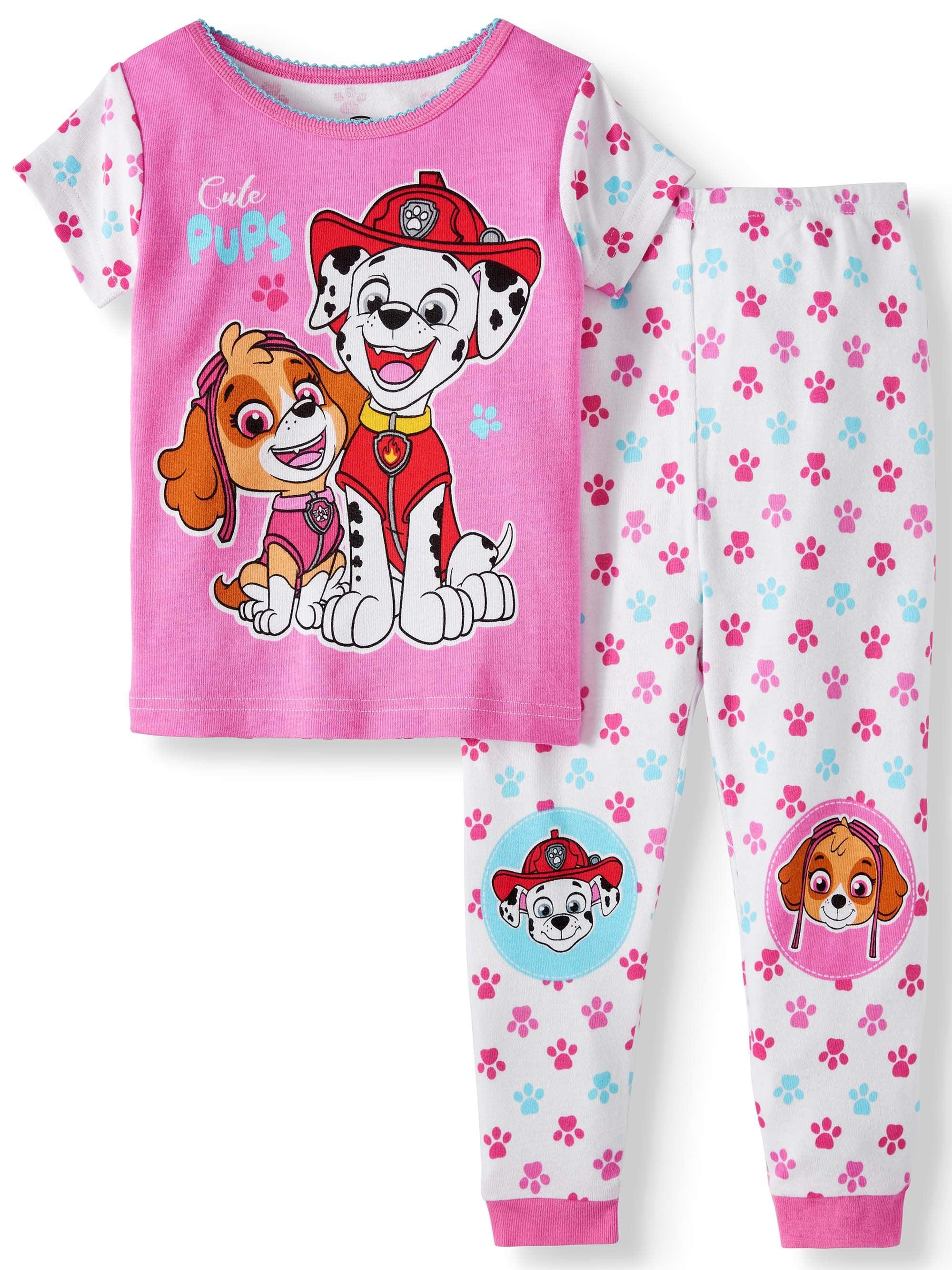 Cotton Tight Fit Pajamas, 2pc Set (Toddler Girls)