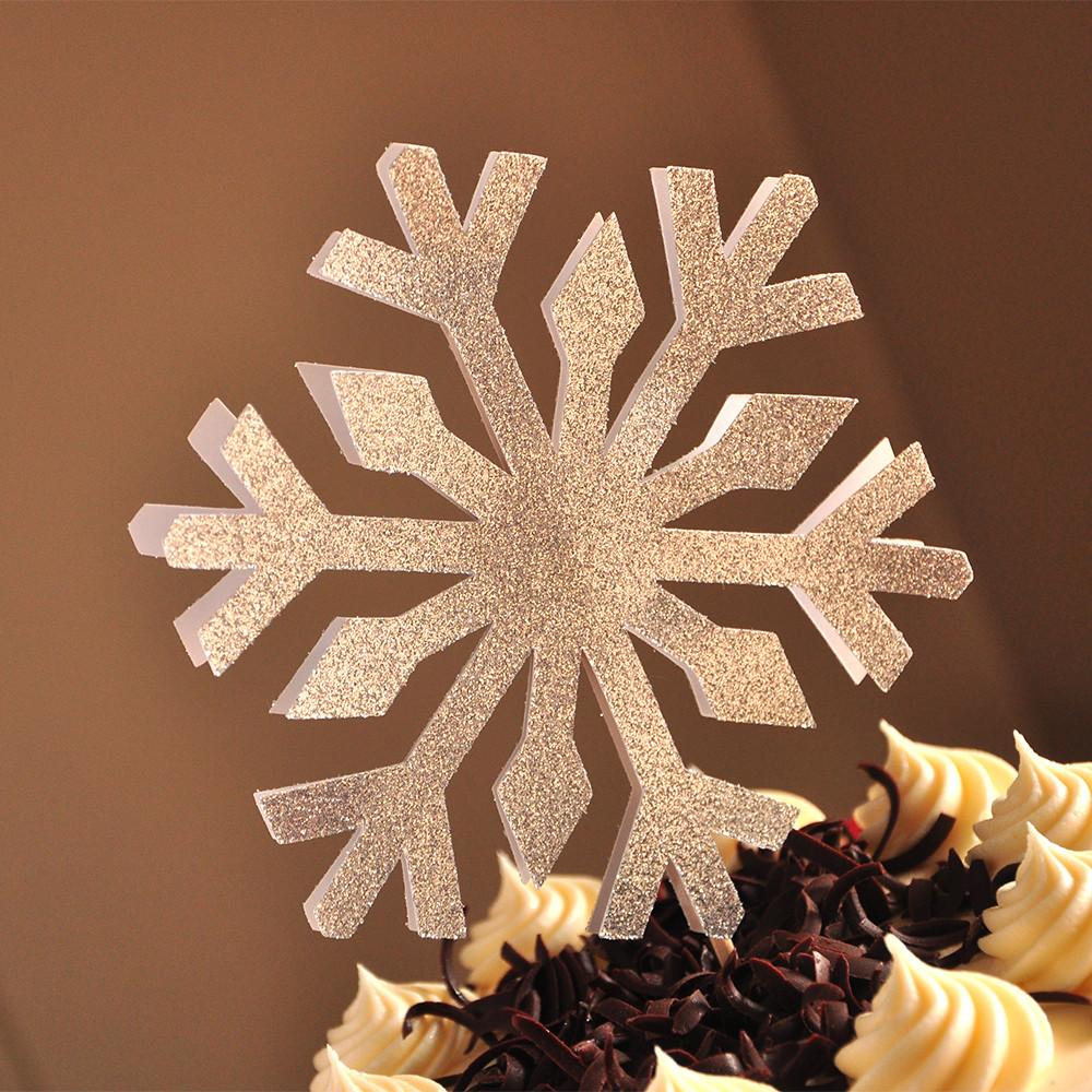 Snowflake Cake Topper. Handcrafted in 1-3 Business Days. Frozen Birthday Party Decorations.
