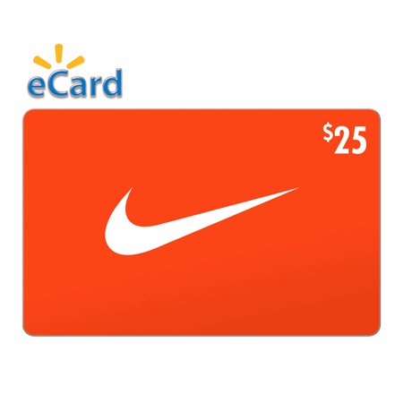 Nike $25 Gift Card (Email Delivery) Give a Nike gift card and youre giving limitless potential. Because one gift opens an entire world of footwear, apparel and equipment  loved by fans of sport and style alike. Nike Gift Cards are redeemable for merchandise online at Nike.com, Hurley.com, Converse.com, at any Nike-owned and Converse-owned retail location in the US and Puerto Rico or by phone at 1-800-806-6453.