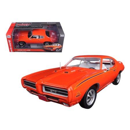 1969 Pontiac Gto Judge Orange Limited Edition To 1002Pc 1 18 Diecast Car Model By Autoworld